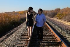 #engagement #photo    #themedphotos #photoshoot #train #traintracks