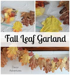 Fall Home Tour + How to Make Leaf Garland