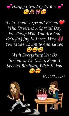 Advance Happy Birthday Wishes, Happy Birthday Best Friend Quotes, Special Birthday Wishes, Birthday Girl Quotes, Birthday Quotes For Best Friend, Birthday Paragraph, Birthday Captions, Wishes For Friends, Bff