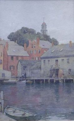 """Gloucester Harbor, Massachusetts,"" Everett Longley Warner, watercolor, 7.5 x 11'', private collection."