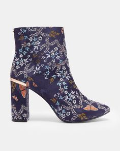 5cbeef44ade68b ISHBEL Kyoto Gardens heeled ankle boots  TedToToe Navy Shoes