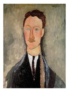 Portrait of Leopold Survage    by Modigliani