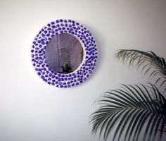 Purple Pebble Mirror. Upgrading a boring mirror. Please visit and vote if you like on instructables.com