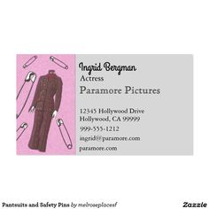 Pantsuits And Safety Pins Business Card PantsuitNation Cards Lipsense