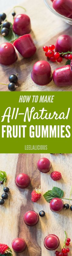 Make your own candy in form of these Homemade Gummies using fresh fruit and nutritious gelatin. #spon