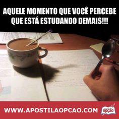 Sabe Aquele Momento em que Você percebe que está Estudando Demais!!!