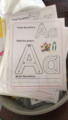 Let's Hear it for the Kindergarten FREEBIES! | Maggie's Kinder Corner Preschool Learning Activities, Kindergarten Writing, Preschool Printables, Alphabet Activities, Alphabet Worksheets, Super Hero Activities, Alphabet Templates, Handwriting Worksheets, Free Worksheets