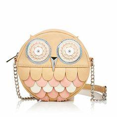 Rara Avis by Iris Apfel Owl Crossbody Handbag