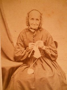 Lovely Frail Elderly Lady Knitting Antique Civil War Era CDV Photo Norwich NY | eBay