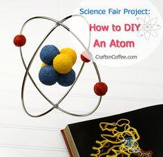 How to make a model of an atom with Styrofoam balls. CraftsnCoffee.com.