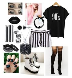 """""""90's Child"""" by shaila5853 ❤ liked on Polyvore featuring ASOS, BB Dakota, Pangmama, New Look, Lime Crime, Swarovski, BERRICLE, MICHAEL Michael Kors, LULUS and white"""