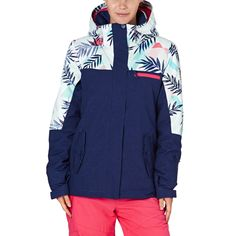 Roxy Snow Jackets - Roxy Jetty Block Snow Jacket - Botanik/Bright White