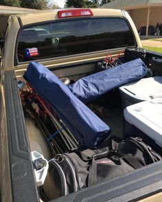 The guys went camping and they loved having the Tundra to haul their gear! #trucksofinstagram #offroad #offroadlife #pickups #trucks #dreamtruck #toyota #tundra #tundranation #tundraoffroad #trdpro #4wd #4x4