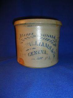 C.+L.+Williams,+New+Geneva,+Pennsylvania+Stoneware+1+Gallon+Butter+Crock+
