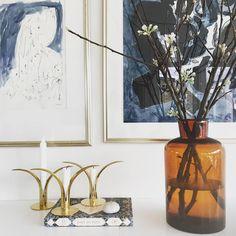 Johannes Holt Iversen - Ink Study in Interior Setting, Copenhagen Copenhagen, Glass Vase, Interior Decorating, Study, Paintings, Ink, Home Decor, Studio, Decoration Home