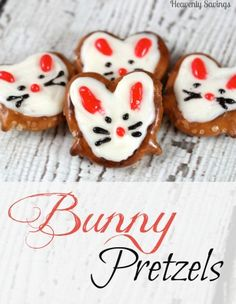 Bunny Pretzels - Fun Snack For The Kids and really easy to make