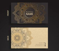 business-card-ethnic-style Free Elegant Design Elements to Add Class to Your Work Business Card Design, Creative Business, Free Business Card Maker, Business Card Creator, Free Business Card Templates, Best Visiting Card Designs, Visiting Card Templates, Photos Hd, Luxury Business Cards
