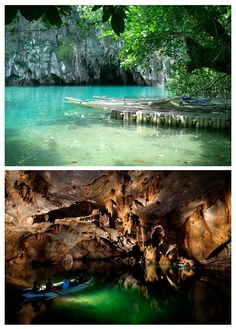 Underground River, Palawan Philippines...I will tolerate bats to see this :)