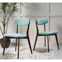 Shop for Christopher Knight Home Fauna Mid-Century Fabric Dining Chair (Set of 2). Get free shipping at Overstock.com - Your Online Furniture Outlet Store! Get 5% in rewards with Club O!