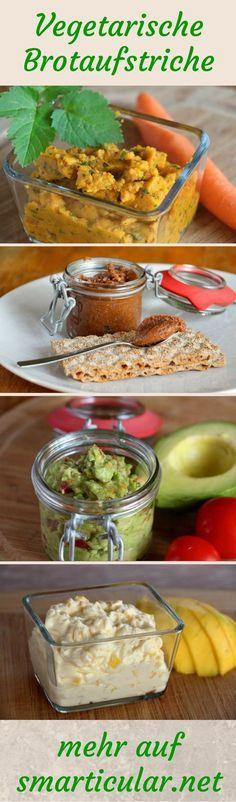 Brotaufstriche selber machen ist zu aufwendig? Erfahre wie du im Handumdrehen aus nur zwei Zutaten vegane und vegetarische Aufstriche herstellst!