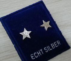 925er Sternchen-Silber-Ohrstecker Ohrringe CO103 von Schmuckbaron