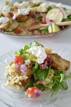 Bulgur salad - New Site Bulgur Salad, Pasta, Roasted Cauliflower, Cobb Salad, Avocado, Meat, Chicken, Healthy, Ethnic Recipes