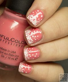 34. Top to #Bottom - Here Are the Coolest 38 #Polka Dot Nail Art Patterns in the #World ... → #Nails #Techniques