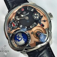 Simply on another level: the new version of the Greubel Forsey GMT with a red gold movement.