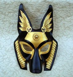 Industrial Anubis V20 ... original mixed media handmade steampunk egyptian jackal mask via Etsy