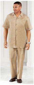 Men's White Cotton Linen Shirt And Pants Set | Megasuits.com | Men ...