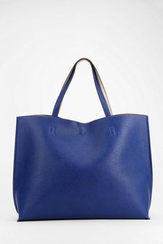 Reversible Vegan Leather Oversized Tote Bag #urbanoutfitters
