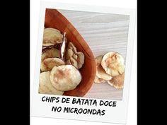 Chips de Batata Doce no Micro-ondas -