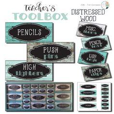 Love this for creating a farmhouse style teacher toolbox!