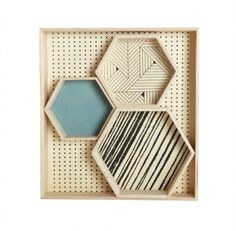Hexagonal Veneer Tray by House Doctor DK