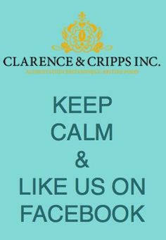 Like Clarence & Cripps Inc on Facebook to be entered into our regular contests.