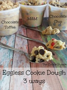 Edible Cookie Dough with simple household ingredients. This is happening.