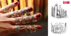 Unique City Rings from CITIMI, MUST HAVE! #cityscape #citimijewelry #modernjewelry
