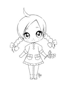 by sureya on DeviantArt Chibi Coloring Pages, Colouring Pages, Coloring Books, Coloring Sheets For Kids, Adult Coloring, Dibujos Cute, Chibi Girl, Cute Clipart, Digi Stamps