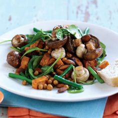 Mushroom, sweet potato and chickpea salad - MyFoodBook