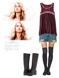 """Malia tate inspired outfit"" by shadyannon ❤ liked on Polyvore featuring rag & bone, American Eagle Outfitters and Volatile"
