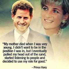 Prince Harry on finally dealing with the death of his beloved mother, Diana, Princess of Wales. Princess Diana Family, Princess Meghan, Royal Princess, Prince And Princess, Princess Diana Quotes, Princess Diana Death, Lady Diana Spencer, Diana Son, Princesa Diana