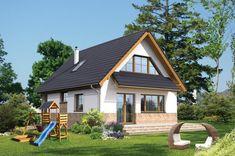 Proiect superb de casa cu mansarda in suprafata de 90 mp! Tropical House Design, Small House Design, Tropical Houses, Cabana, Design Case, Small House Plans, House Rooms, Home Fashion, Home Improvement