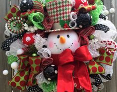 Nutcracker Candyland Nutcracker Wreath Christmas by BaBamWreaths