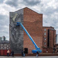 @_faith47 works on her massive wall in #Manchester #UK for @citiesofhope photo - @aruallan.  #streetart #graffiti #art #urban #urbanart #museum #artsy #artistic #mural #documentary #instagraffiti #arts #wallporn #photooftheday #contemporaryart #picoftheday #instadaily #artwork #arte #artist #spraypaint #publicart #outdoorart #graffitiporn #instagrafite #artlife #england by themuseumofurbanart