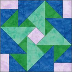QuiltingSupportFun — Whirligig Origami Paper Template 10 Inch Quilting...