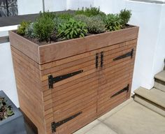 bin storage green - Google Search