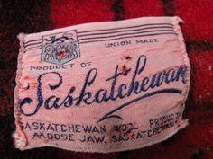 "Vintage ""Saskatchewan Wool Products"" blanket from Moose Jaw, Saskatchewan.  Via farmlass on Blogspot."