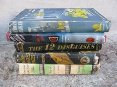 1940s mystery book set set of 5 chandler cain by rivertownvintage, $34.99