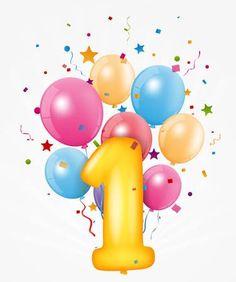 Happy Birthday balloon with number , Birthday Crafts, Birthday Fun, Birthday Decorations, First Birthday Wishes, First Birthdays, Happy Valentines Day Card, Birthday Scrapbook, Happy Birthday Balloons, Birthday Numbers
