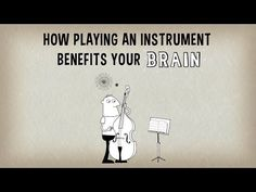How Playing An Instrument Benefits Your Brain ~ When you listen to music, multiple areas of your brain become engaged and active. But when you actually play an instrument, that activity  becomes more like a full-body brain workout.